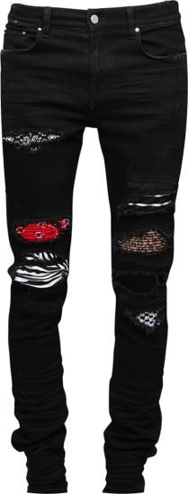 Amiri Black Art Patch Jeans