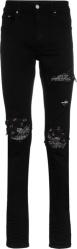 Black Bandana Underpatch 'MX1' Jeans