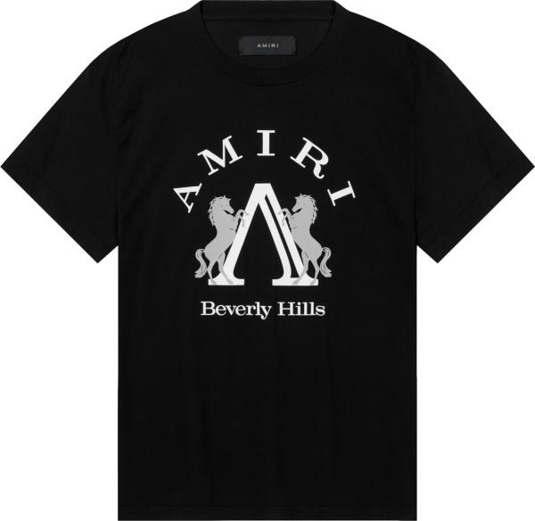 Amiri Black Beverly Hills T Shirt