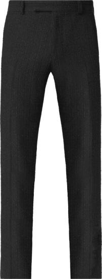 Amiri Black Boucle Stripe Pants