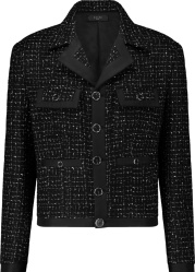 Amiri Black Boucle Tweed Jacket