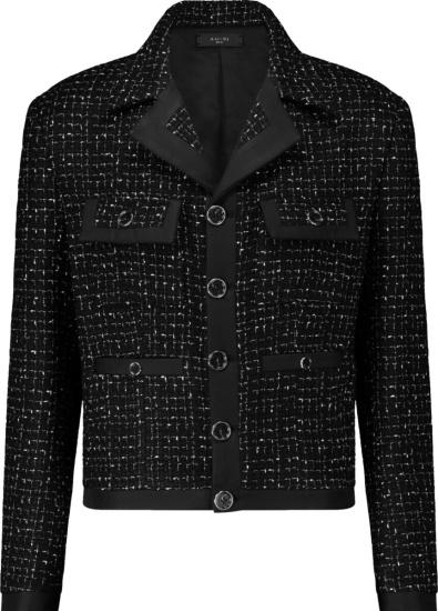 Amiri Black Boucle Tweed Jacket