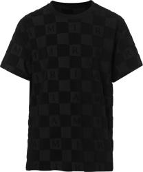 Amiri Black Checkered Logo T Shirt