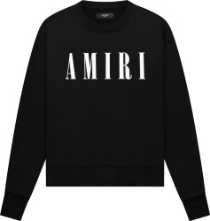Amiri Black Core Logo Crewneck Sweatshirt
