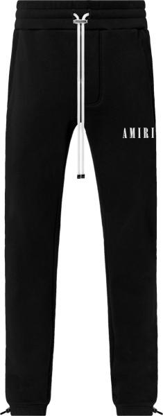 Amiri Black Core Logo Sweapants