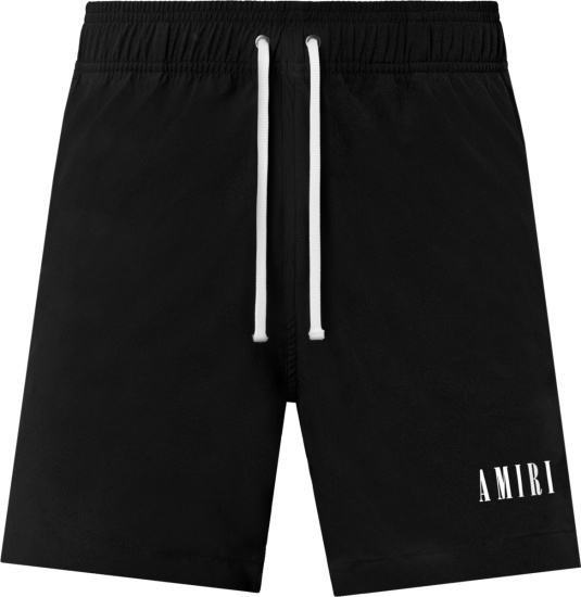 Amiri Black Core Logo Swim Shorts