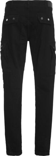Amiri Black Denim Cargo Pants