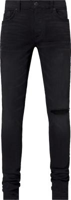 Amiri Black Distressed Slit Jeans