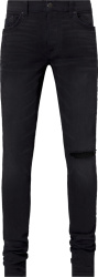 Amiri Black Distressed Slit Jeans