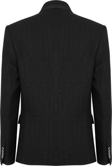 Amiri Black Double Breasted Tweed Jacket