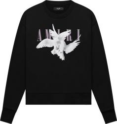 Amiri Black Dual Doves Logo Sweatshirt