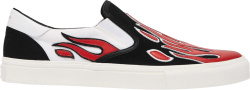Amiri Black Flame Slip On Sneakers