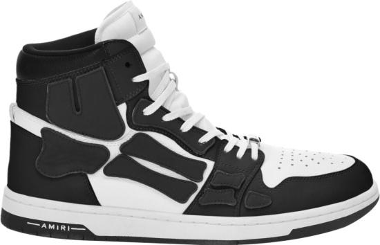 Amiri Black High Top Skel Top Bones Sneakers