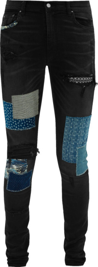 Amiri Black Japanese Patch Jeans