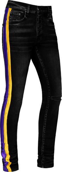 Amiri Black La Lakers Track Jeans