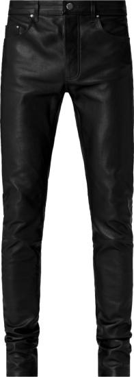 Amiri Black Leather 5 Pocket Pants