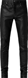 Amiri Black Leather 5 Pocket Pants