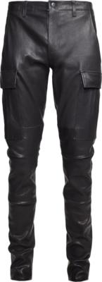 Amiri Black Leather Cargo Pants