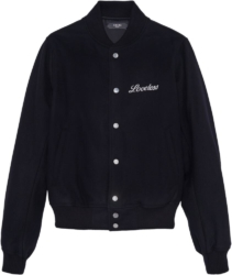 Amiri Black Loveless Embroidered Bomber Jacket
