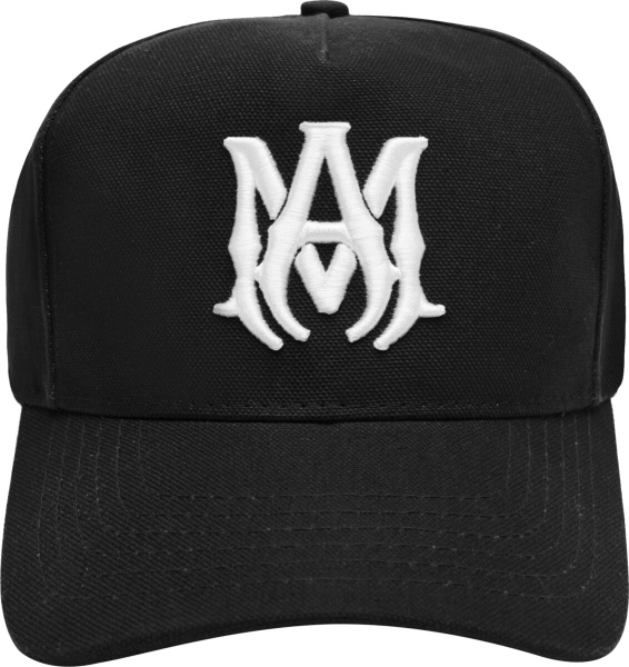 Amiri Black Ma Logo Canvas Hat