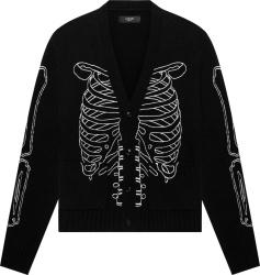 Amiri Black Skeleton Jacquard Cardigan