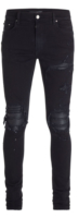Leather Underpatch Black Jeans