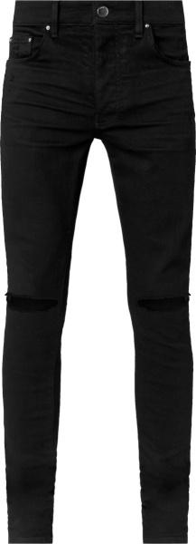 Amiri Black Slash Knee Jeans