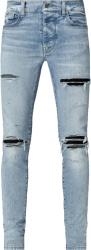 Amiri Black Suede Underpatch Light Repair Jeans
