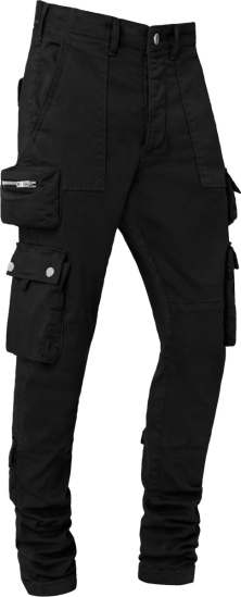 Amiri Black Tactical Cargo Pants