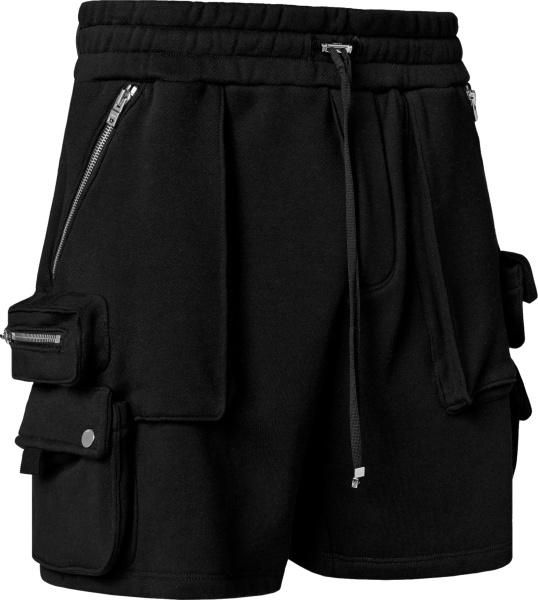 Amiri Black Tactical Cargo Sweatshorts