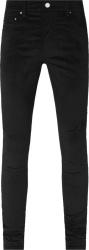 Amiri Black Velour Stack Skinny Jeans