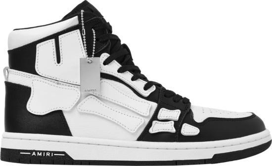 Amiri Black White Skel Top High Top Sneakers