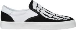 Amiri Black White Skeleton Patch Slip On Sneakers