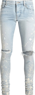 Amiri Bleach Splatter Light Wash Jeans