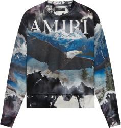 Amiri Bleached Eagle Print Sweatshirt