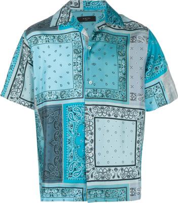 Amiri Blue Bandana Print Shirt