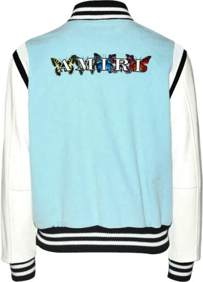 Amiri Blue Corduroy Varsity Jacket
