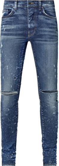 Amiri Blue Denim Shotgun Jeans