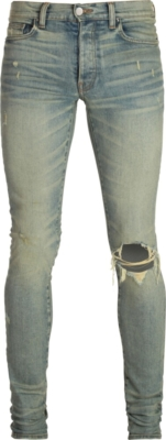 Amiri Broken Dusted Indigo Jeans
