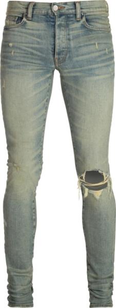Amiri Broken Dusted Indigo Jeans