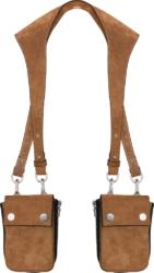 Amiri Brown Leather Harness Bag