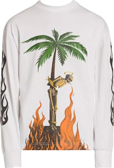 Amiri Burning Skeleton Print Sweatshirt
