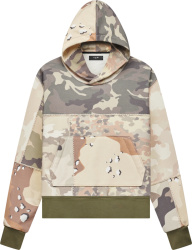 Amiri Camouflage Patchwork Hoodie