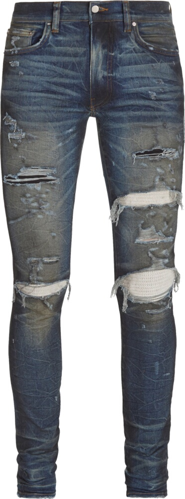 Cashmere Underpatch Distressed Skinny Jeans