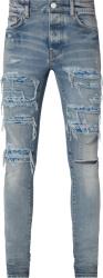 Amiri Clay Indigo And Blue Pj Paisley Thrasher Jeans