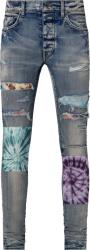 Clay Indigo & Tie-Dye 'Art Patch' Jeans