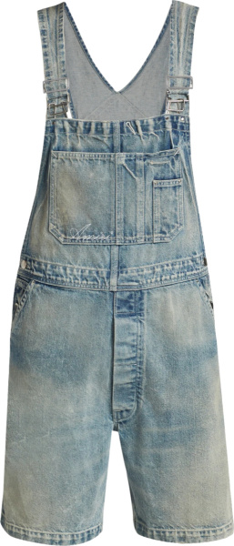 Amiri Clay Indigo Denim Overall Shorts
