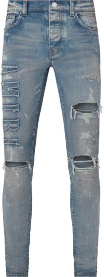 Amiri Clay Ingigo Logo Applique Jeans