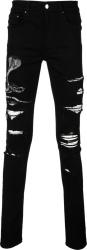 Amiri Cobra Patch Croc Underpatch Black Jeans