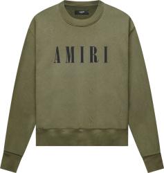 Amiri Dark Green Core Logo Print Crewneck Sweatshirt
